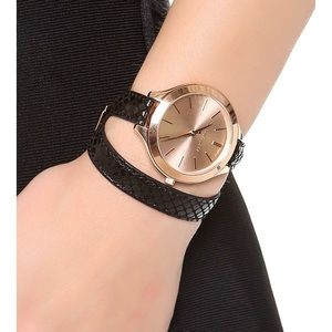 Michael Kors Rose Gold Wrap Watch